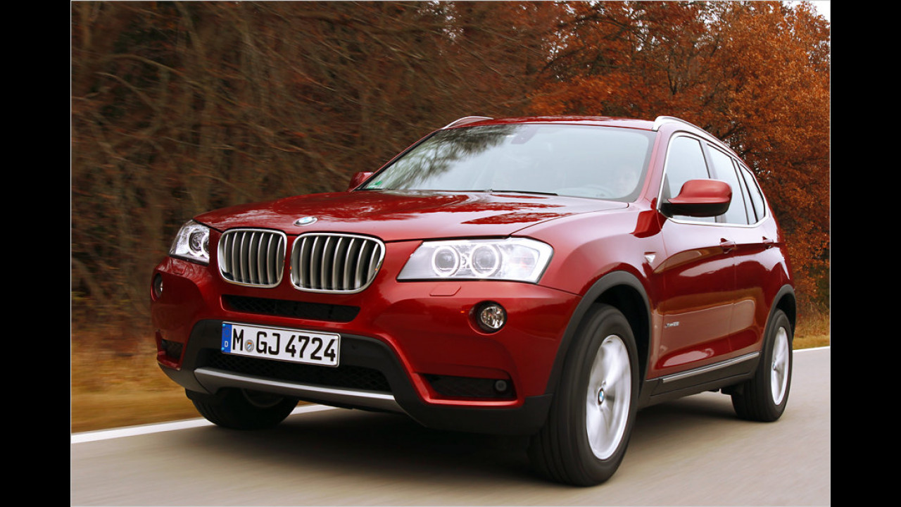 Top 3 bei Männern: BMW X3 (80,1 Punkte)