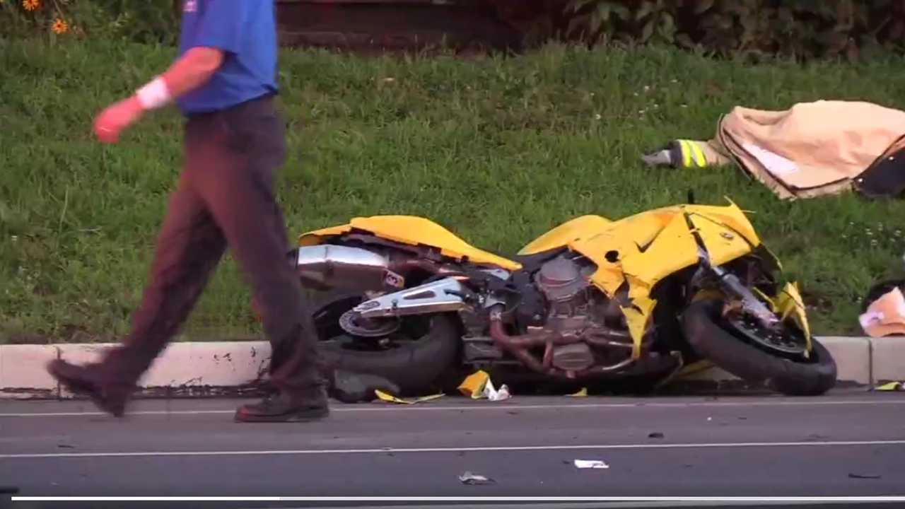 Truck Intentionally Hits Motorcycle