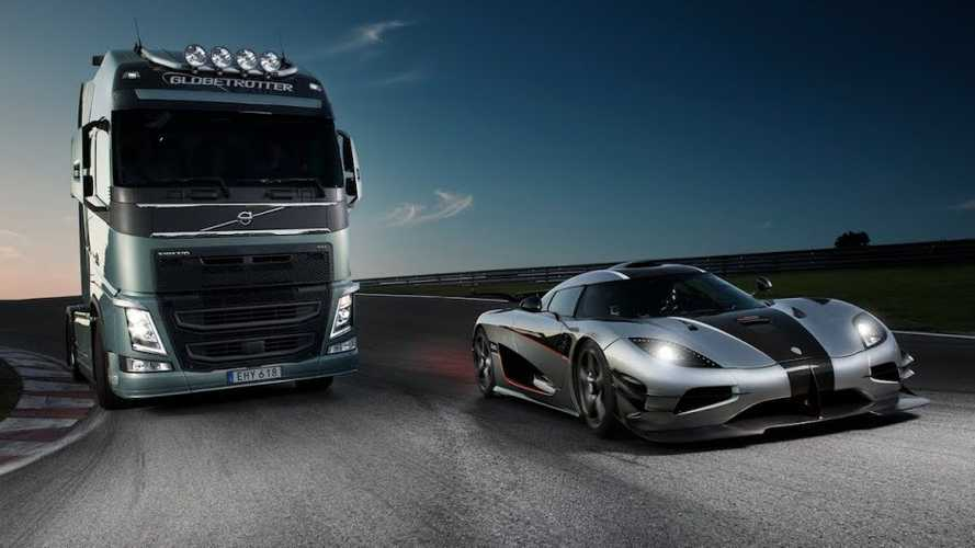 Tiff Needell Pits Volvo FH Against Koenigsegg One:1