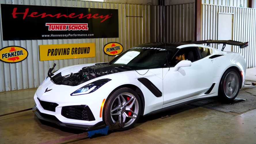 Hennessey tuned Corvette ZR1 makes over 1,000 bhp and it sounds epic