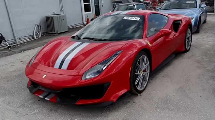This Is What A Crashed 100-Mile Ferrari 488 Pista Looks Like