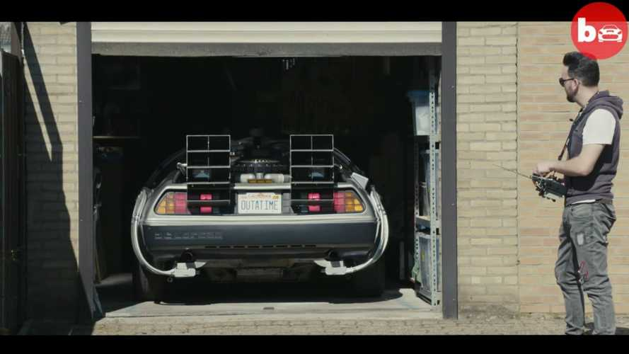 DeLorean driven with a remote control is the ultimate gadget