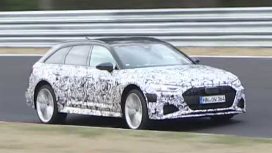 Audi RS6 Avant spied extensively on video