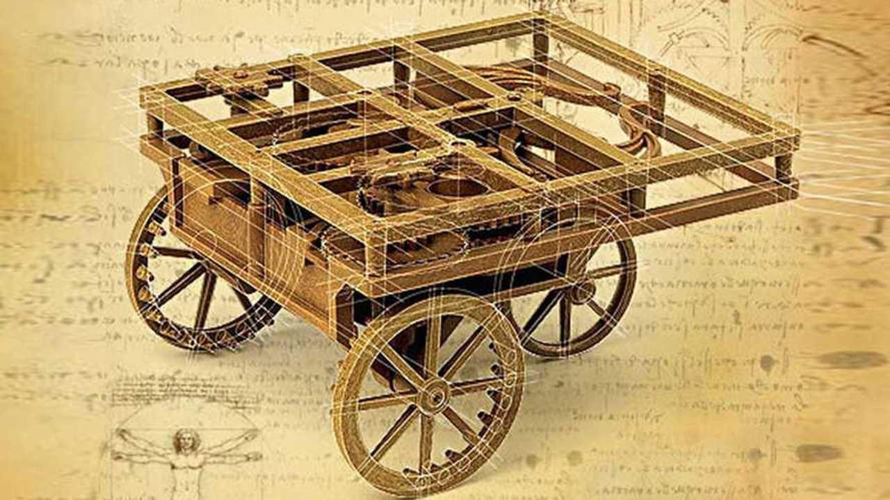 La macchina a molla di Leonardo Da Vinci