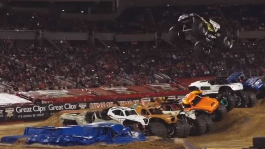 12,000-Lbs Monster Truck Redefines Gravity, Sets New Jump Record