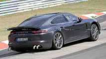 porsche panamera long exhaust spied
