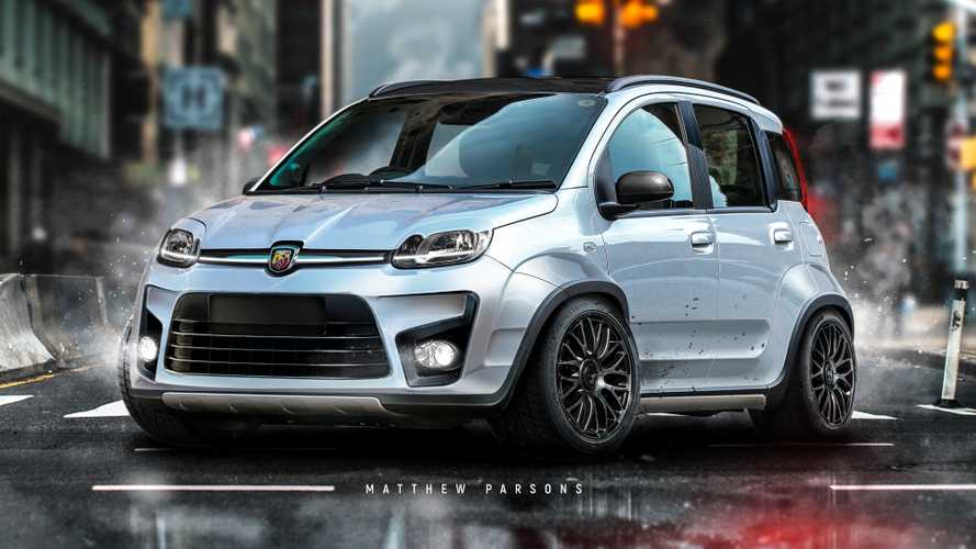 Fiat Panda, un render la immagina come una piccola hot hatch