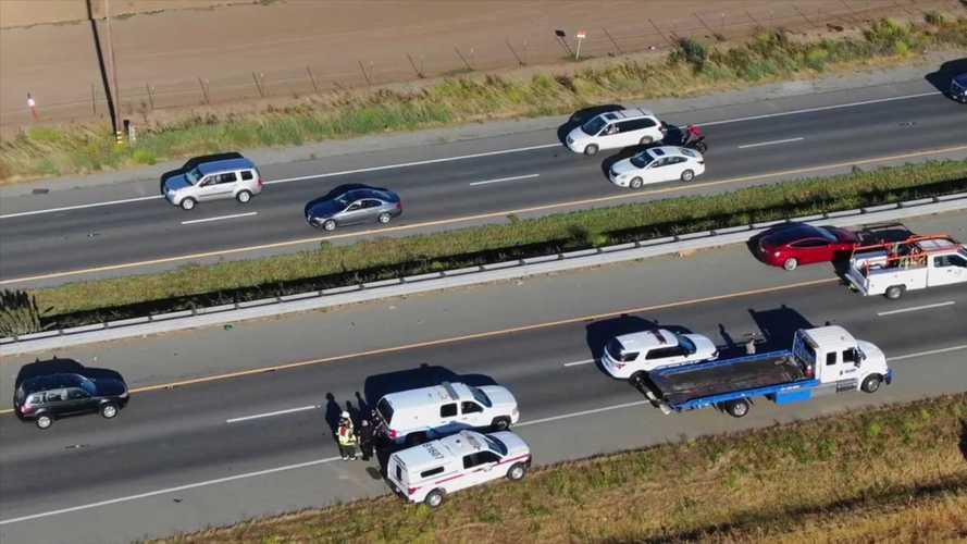 See A Tesla Crash Scene Like You've Never Seen One Before