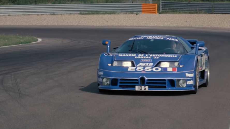 In pista con la Bugatti EB110, Loris Bicocchi e Davide Cironi