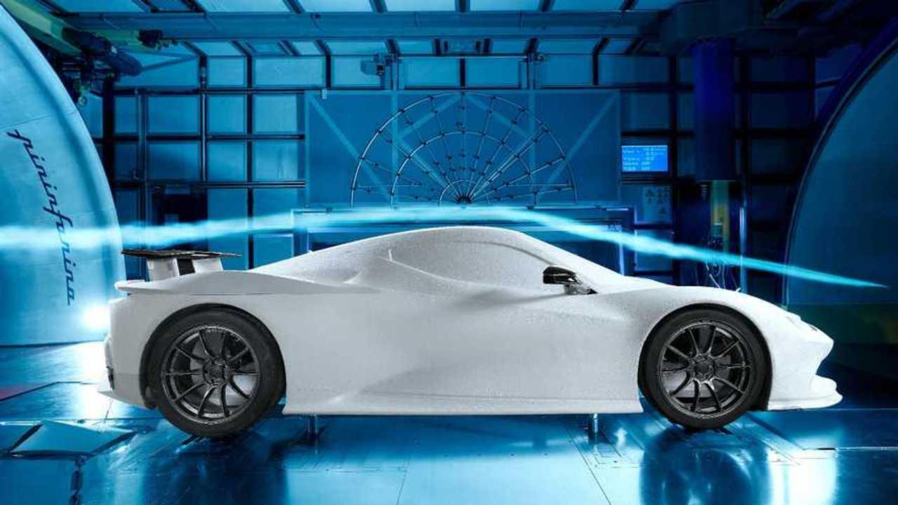 Pininfarina Battista wind tunnel performance tests
