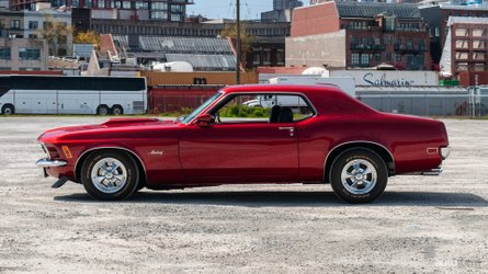 Ride this 1970 ford mustang into the sunset