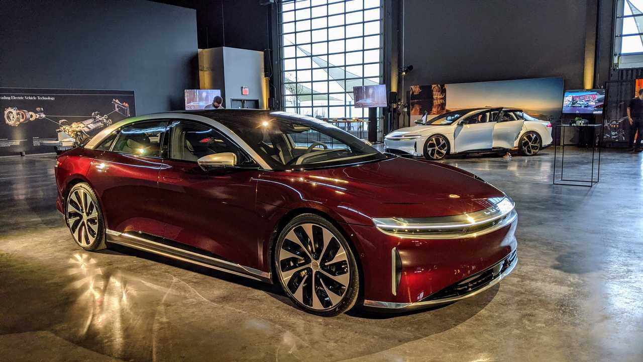 Lucid Air Shows Off Bold Zenith Red Color Option In NYC