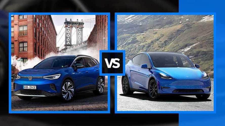 Volkswagen ID.4 vs Tesla Model Y, quanto sono simili