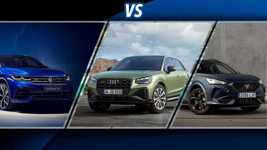 Cupra Formentor vs Audi SQ2 vs Volkswagen Tiguan R: sfida tra SUV sportivi