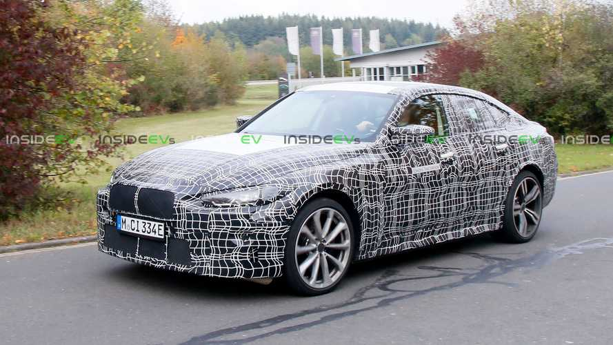 This camouflaged BMW prototype could be the i4 M