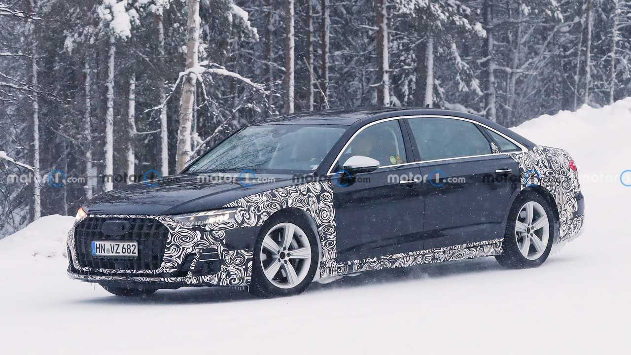 Шпионские фото Audi A8 L Horch, профиль