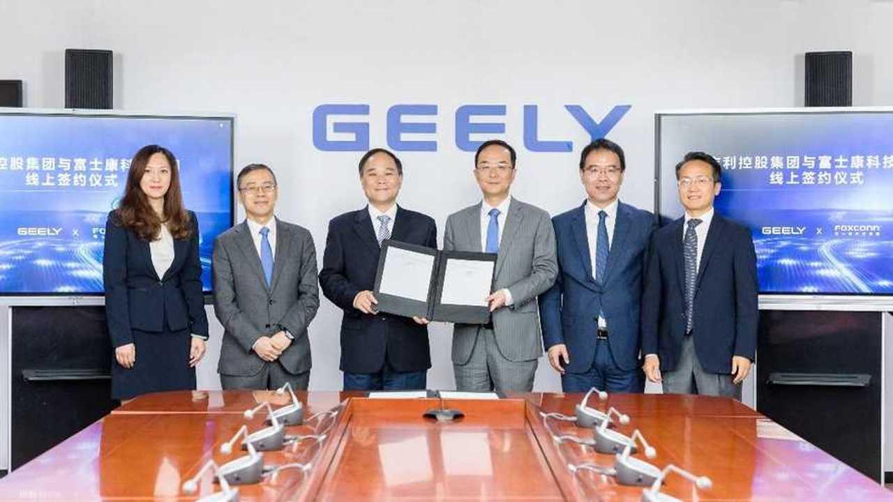 Подписание соглашения Geely и  Foxconn