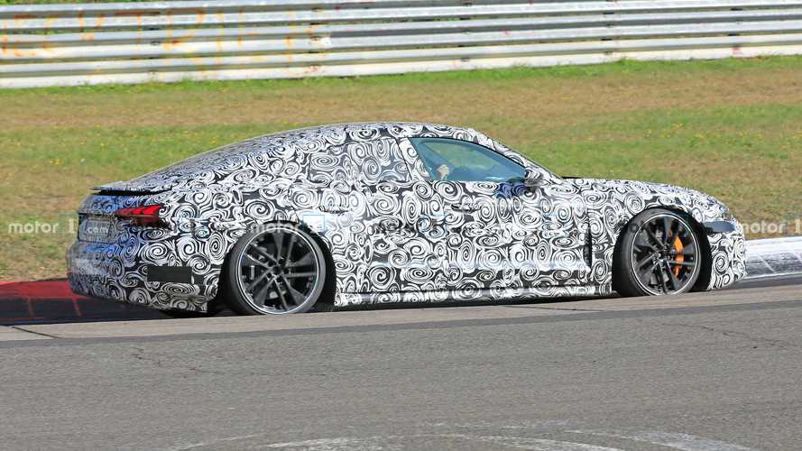 2021 Audi E-Tron GT Spied Looking Glued To The Nurburgring Tarmac