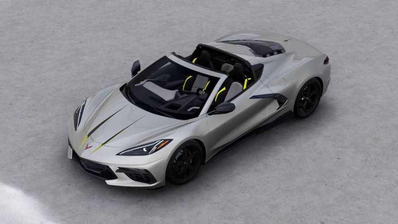 2021 Chevy Corvette High Angle Front Quarter Visualizer