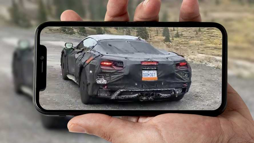 2022 Corvette Z06 C8 Spied Idling While Testing In Colorado