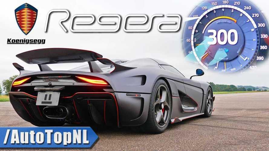 Nem normális, ahogy a Koenigsegg Regera 0-ról 300 km/órára gyorsul (videó)