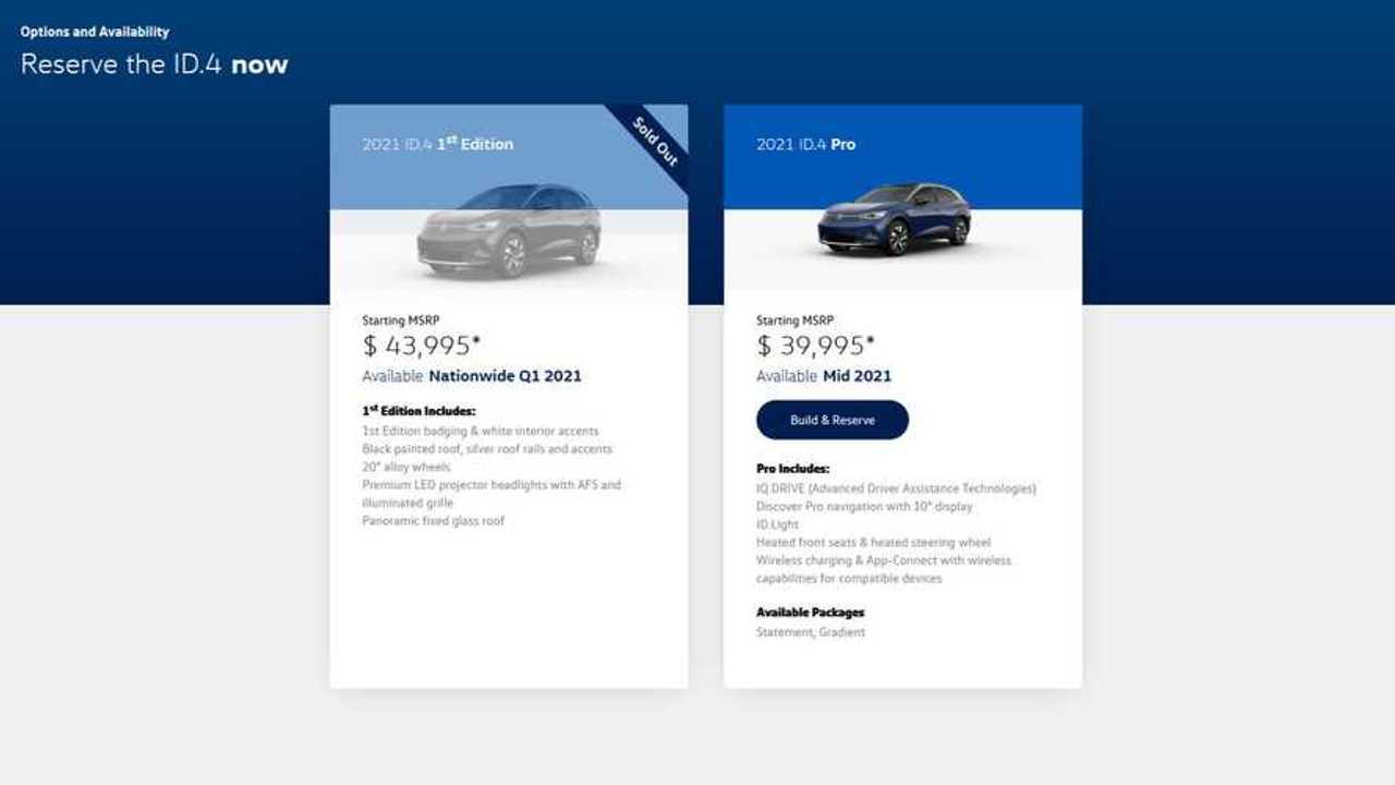 Volkswagen ID.4 - Reservation in the U.S.
