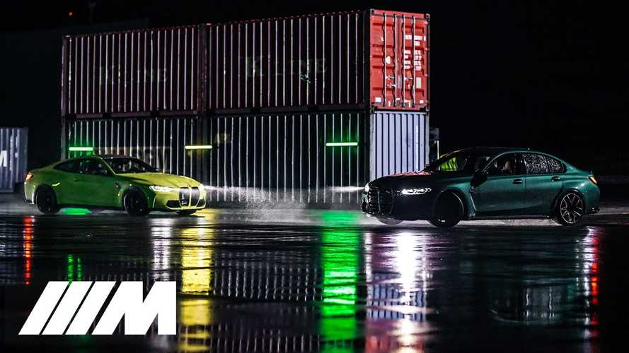2021 BMW M3, M4 Competition have fast vs fun 'race' in official video