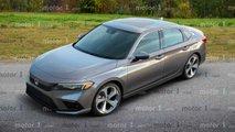 Honda Civic Sedan 2021, render de Motor1.com