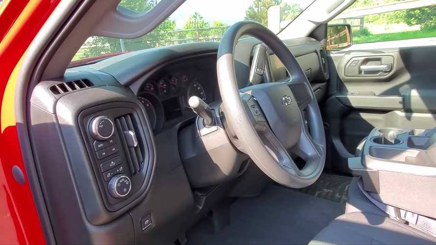 Check Out A $45,000 Chevy Silverado With A Very Basic Steering Wheel