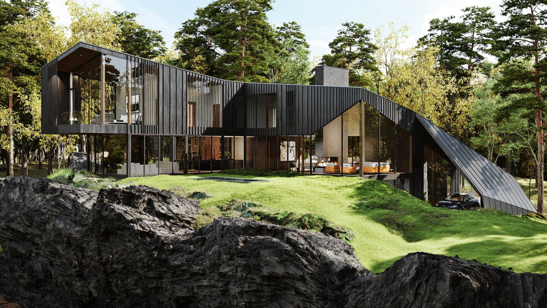 Aston Martin Designs Gorgeous Home With 2 000 Foot Long Driveway