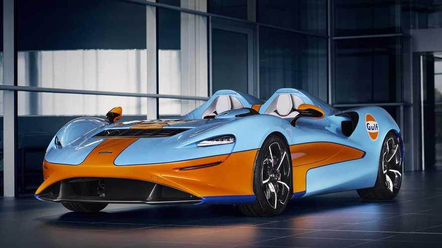 Weltpremiere für den McLaren Elva Gulf Theme von MSO