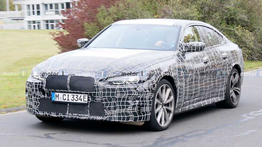 BMW i4 spied sporting twin-stalk M side mirrors, wider rear wings