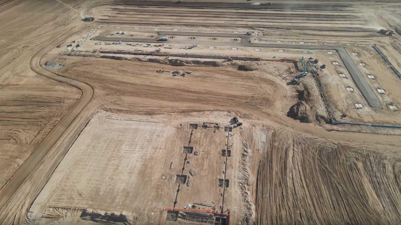 Nikola Semi Factory Construction Site Update Part 1 - December 17, 2020 (source: Oneshot Creative)
