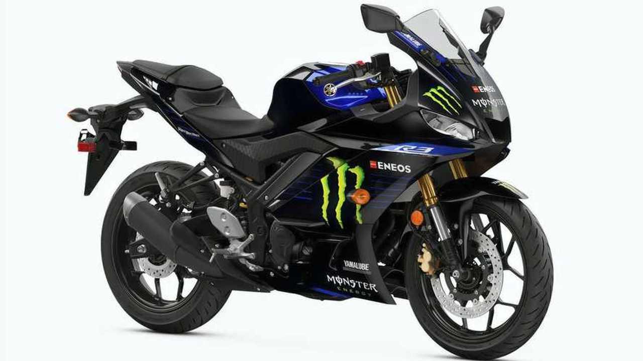 2021 Yamaha YZF-R3 Monster Energy MotoGP Edition Right Side Studio