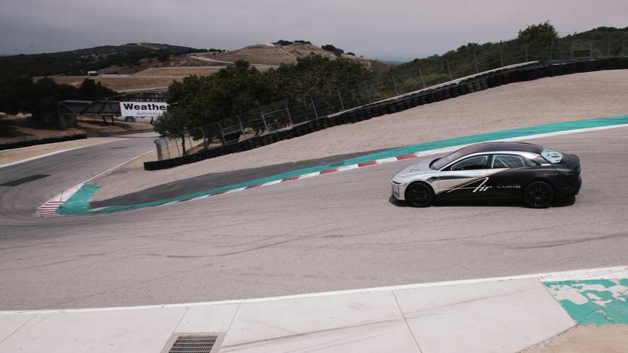 Lucid Air 'enterra' recorde do Tesla Model S em Laguna Seca