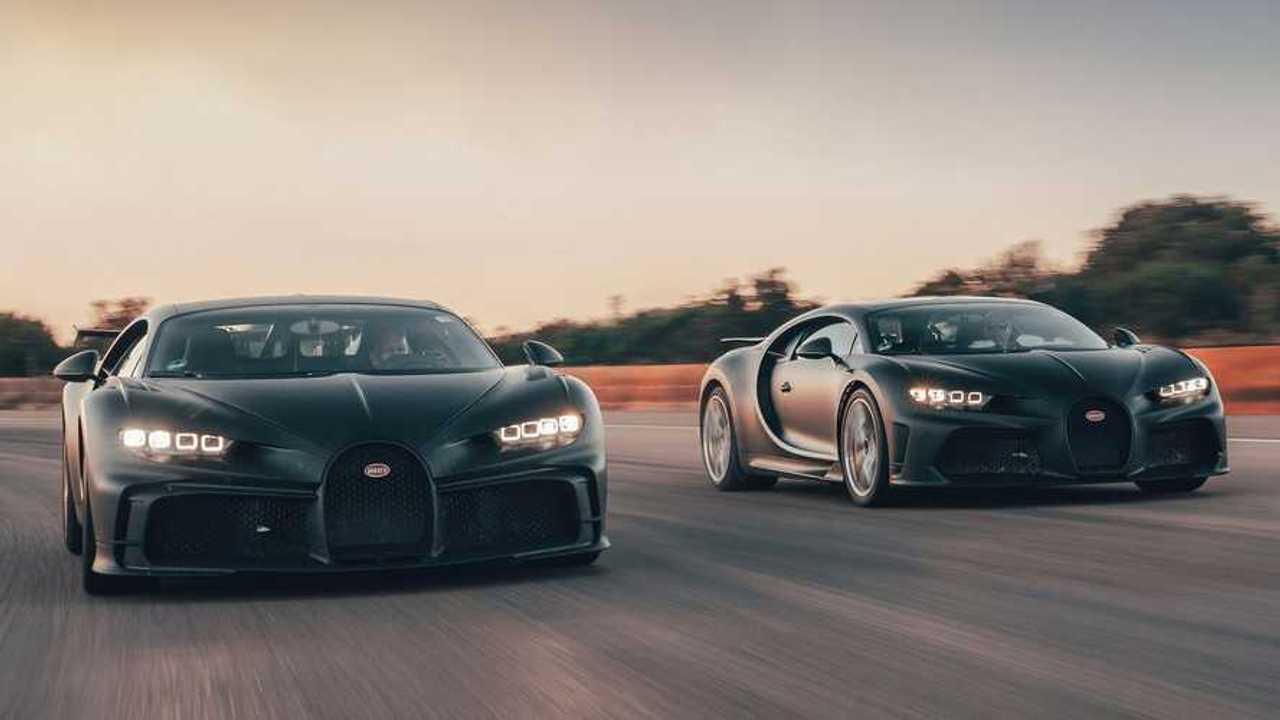 Bugatti Chiron Super Sport 300+ Et Pur Sport Prendre Sur Nardo Ensemble