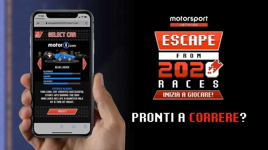 Escape 2020, nouveau jeu de course mobile 8 bit de Motor1.com !