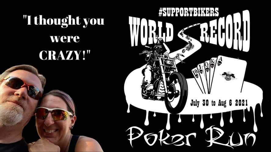 Support Bikers Doing A World Record Poker Run