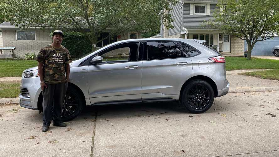Ford just gave a new SUV to a really nice guy who mows lawns