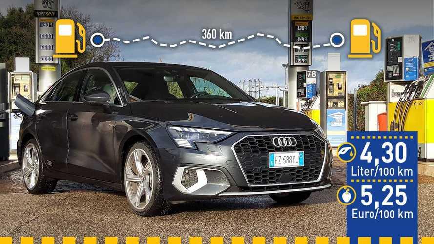 Tatsächlicher Verbrauch: Audi A3 35 TFSI mit Mildhybrid-System im Test