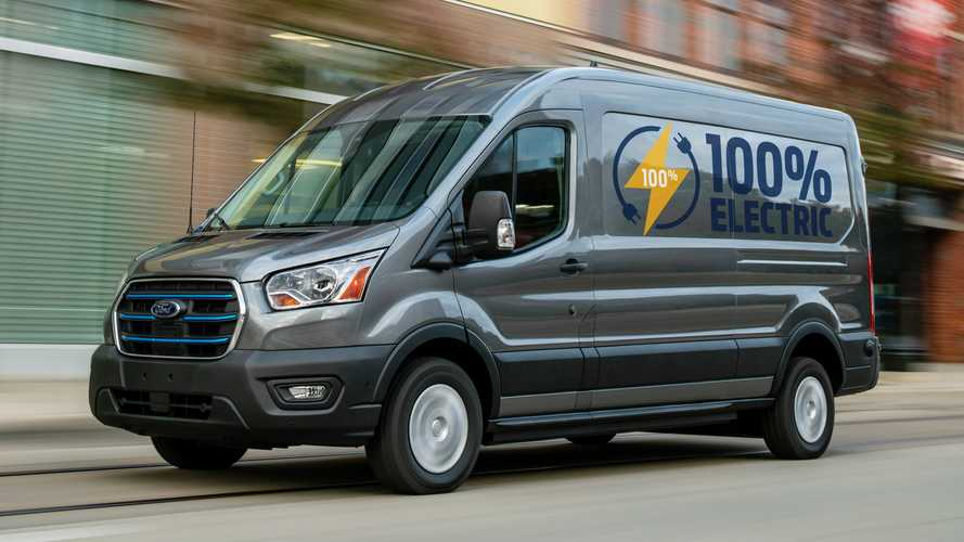 2022 Ford E-Transit debuts as electric van with 217 miles of range