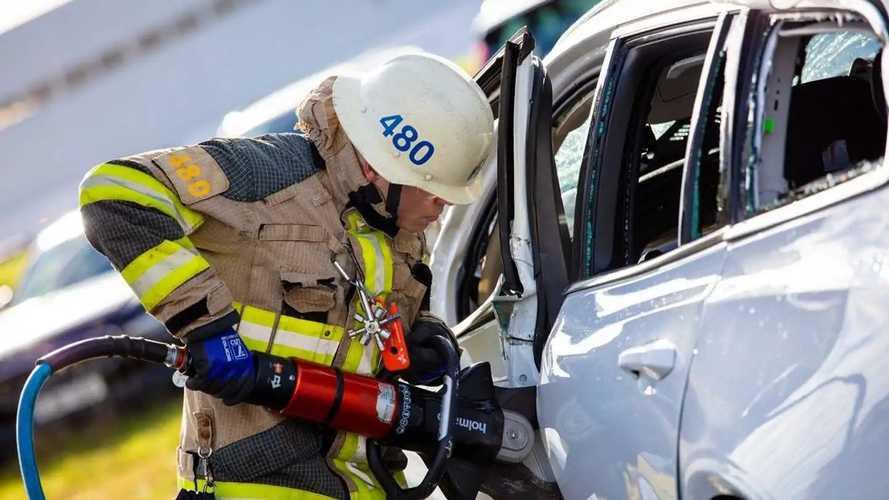 Volvo - Le crash test avec une grue