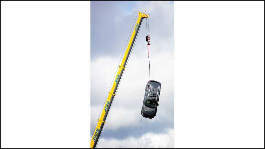 Volvo Drops Cars From Crane