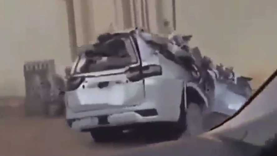 Car Carrier With 2022 Toyota Land Cruiser SUVs Crashes En Route To Dealer