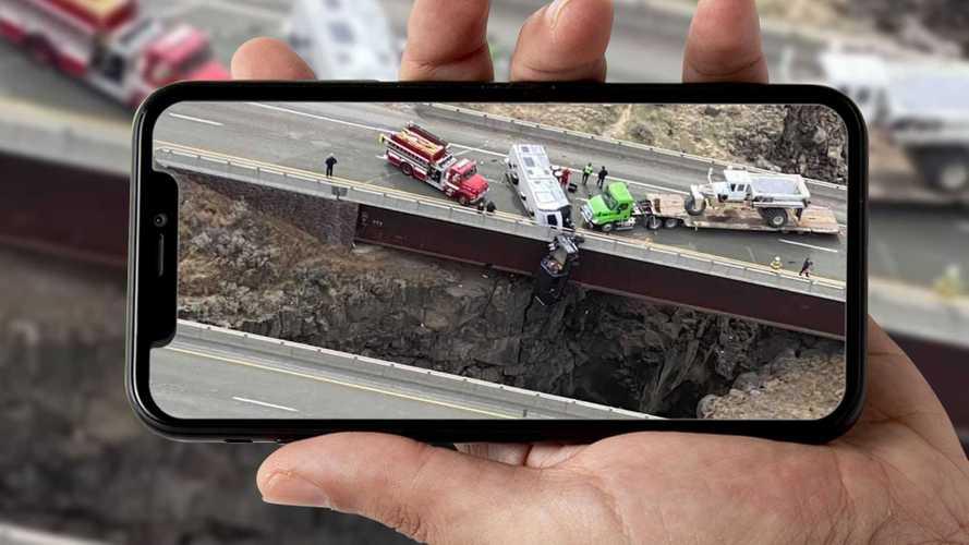 Grave incidente negli USA, un veicolo resta appeso a 30 metri d'altezza