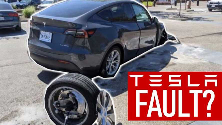 Watch Tesla Model Y owner wreck car, attempt to blame Tesla
