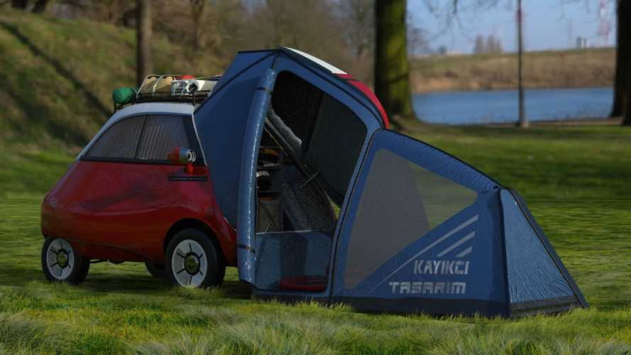 Microlino Camper Comes With Retractable Kitchen And Tons Of Cuteness