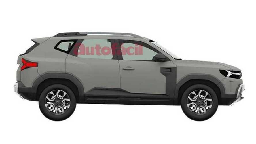 Dacia Bigster, i disegni del brevetto