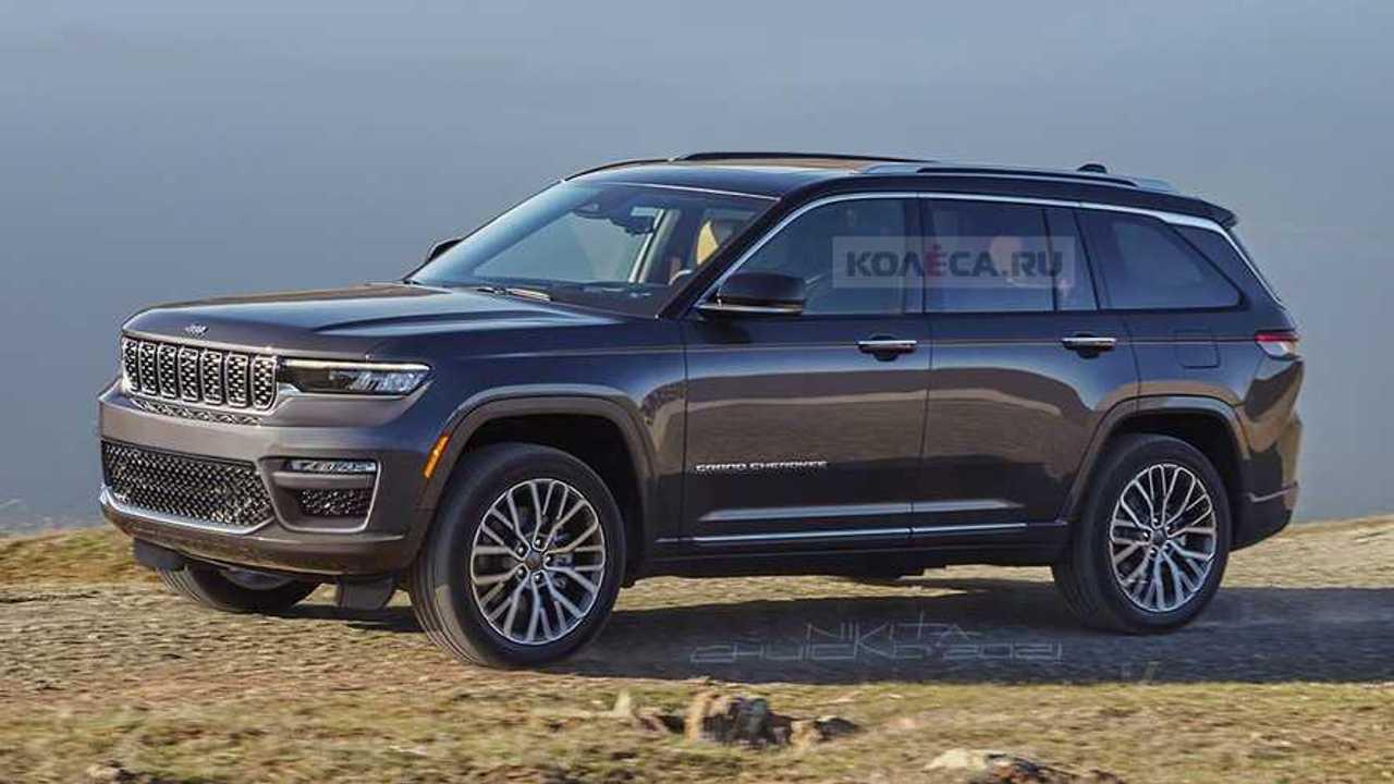2022 Jeep Grand Cherokee hayali tasarımı (render)