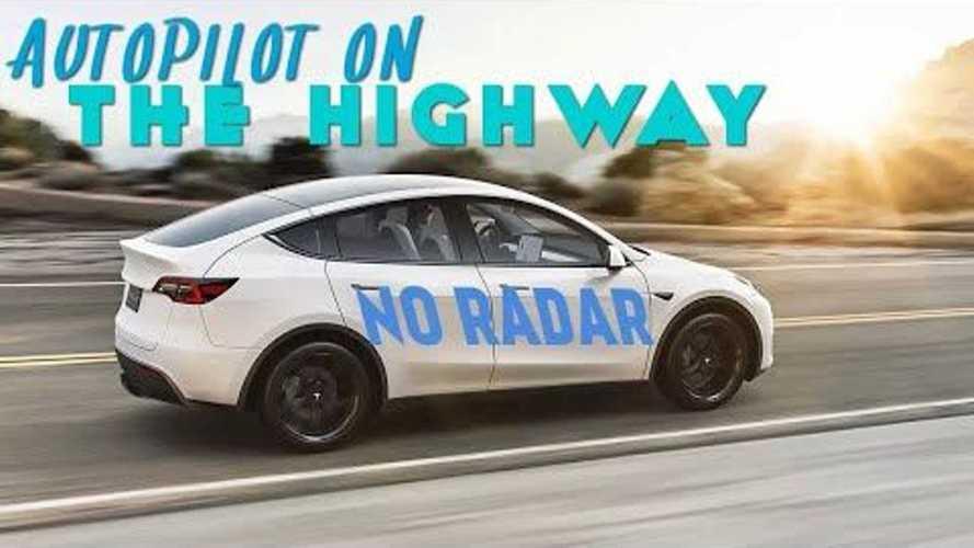 Tesla Model Y Autopilot Highway Driving With No Radar